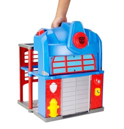 TRANSFORMERS RESCUE BOTS PLAYSKOOL HEROES FIRE STATION PRIME Playset Product Shot