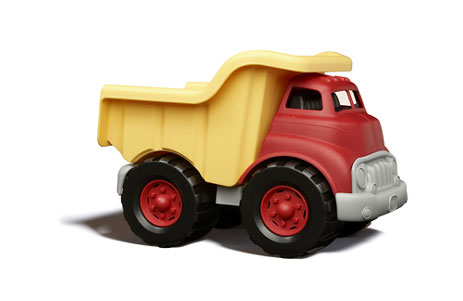 The Green Toys Dump Truck is manufactured entirely in the USA