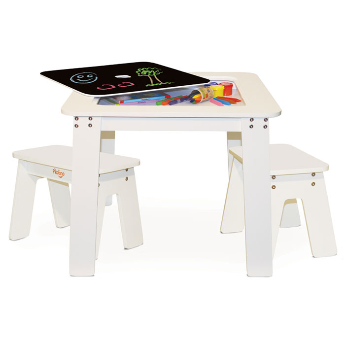 Reversible Chalk Kids Small Desk Table amp Benches Picnic