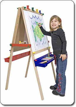 Childrens Kids Easel Chalkboard Draw Board Stand Painting