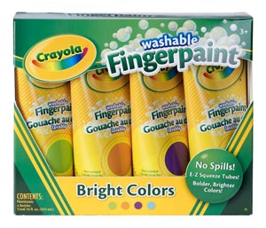 Crayola Washable Fingerpaint Bright Colors