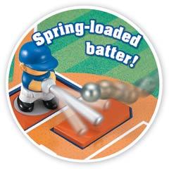 iplay Deluxe Stadium Baseball Game - spring loaded batter