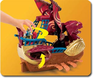 Serpent Pirate Ship - plenty of interactive parts