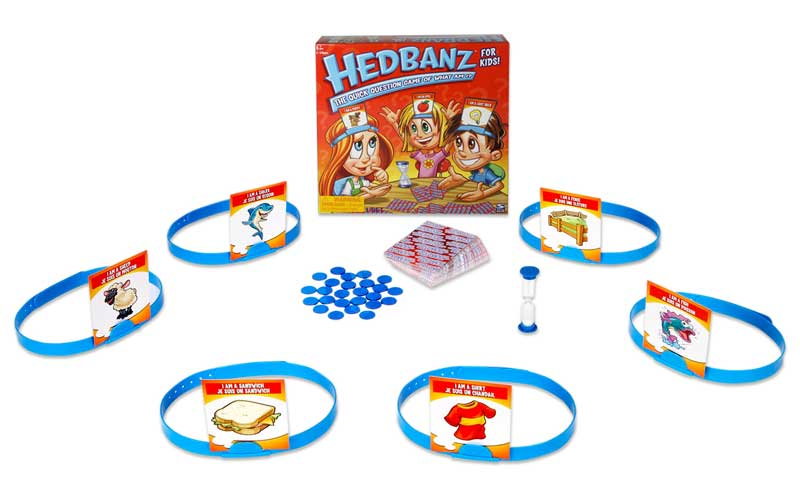 Hedbanz is fun, playful game that encourages communication and is sure