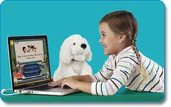 SmartyAnts Phonics Reading Pup (White Dog)