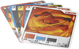 Ninjago character card and battle cards