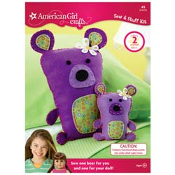 American Girls Bear Sew and Stuff Kit