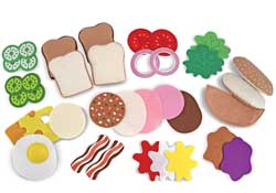 Melissa and Doug Felt Food--Sandwich Set