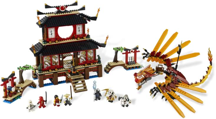 LEGO Ninjago Fire Temple Set (1174 pieces), 7 mini-figures, fire