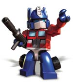 KRE-O TRANSFORMERS OPTIMUS PRIME with Twin Cycles Product Shot