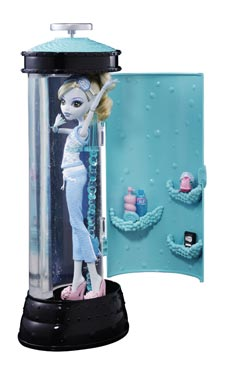 Monster High Dead Tired Lagoona Blue Doll and Hydration Station