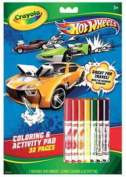 Crayola Hot Wheels Coloring and Activity Pad