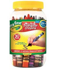 My First Crayola Washable Triangular Crayons 30 Count