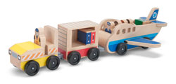 Melissa & Doug Whittle World Plane and Luggage Carrier Set Product Shot