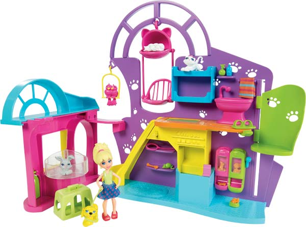 Amazon.com: Polly Pocket Playtime Doll Pet Shop: Toys & Games