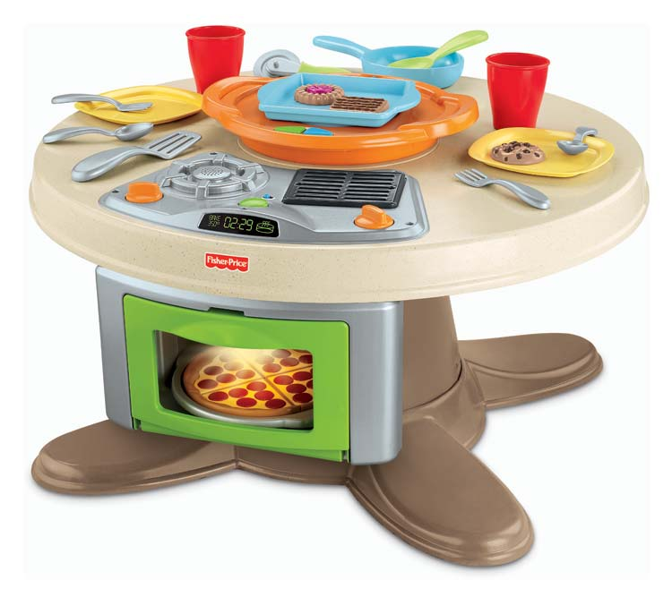 fisher price servin 39 surprises kitchen table dress up