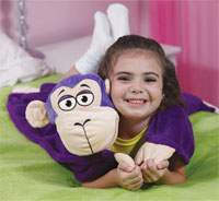 uddleUppets Purple Monkey