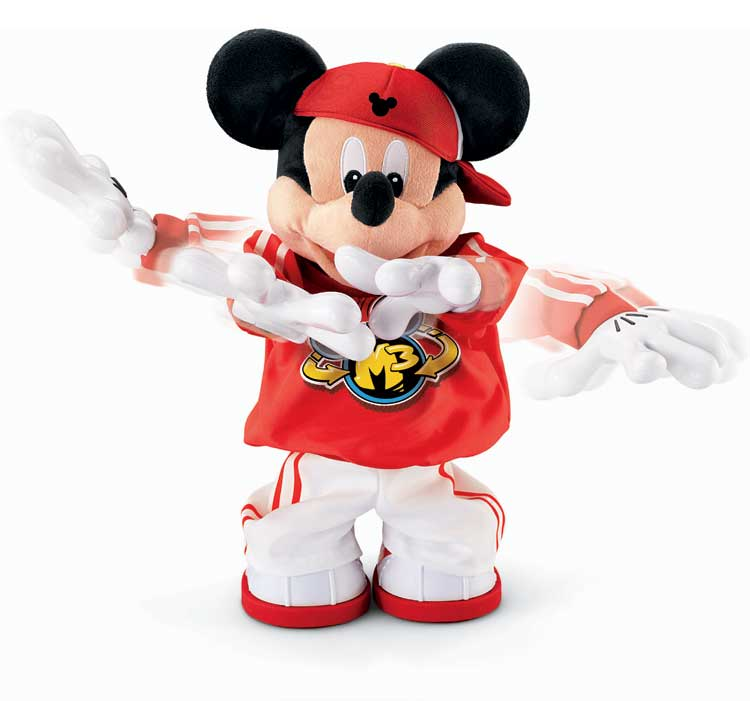 Mickey Mouse Toys : Master moves mickey mouse m dancing plush toy collectible