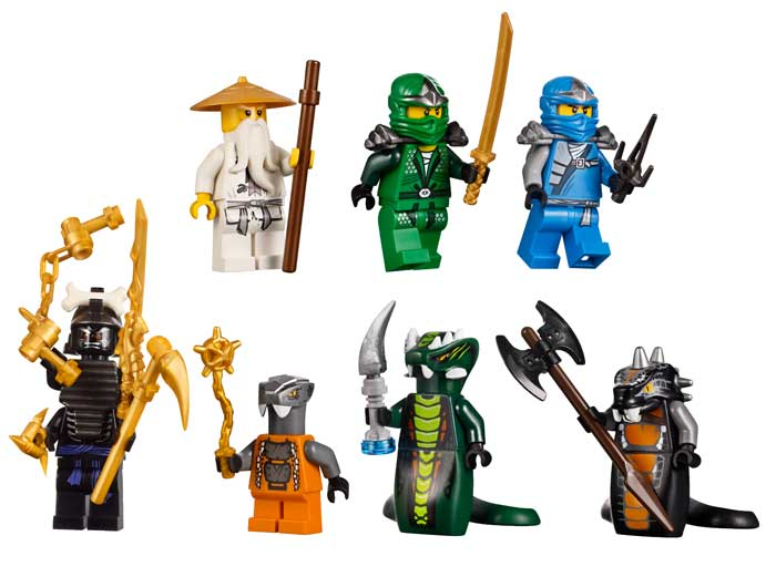 Includes eight minifigures modeled after some of the show's most