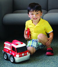 Kid Galaxy My 1st RC GoGo Auto Jumbo Fire Truck Product Shot