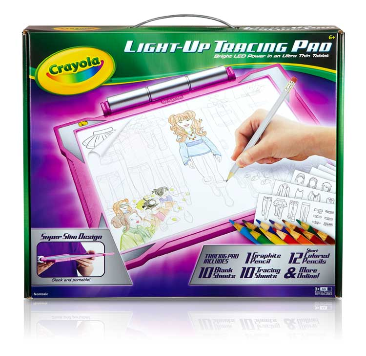 New Crayola Light Up Tracing Pad Pink Led Preschool Art Drawing Toy Girls Kids Ebay