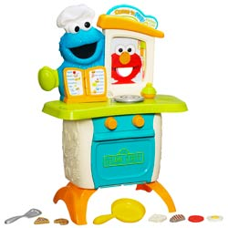 PLAYSKOOL SESAME STREET BRAND COME 'N PLAY Cookie Monster Kitchen Café
