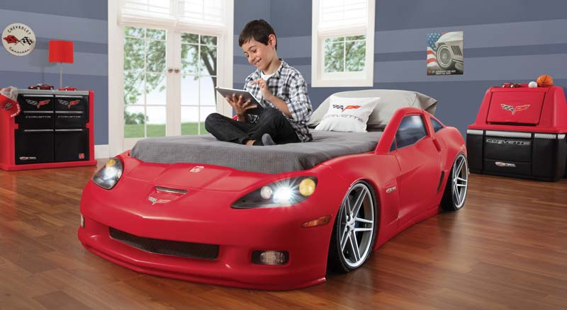 Step2 Corvette Toddler to Twin Bed with Lights - Red. Step2 Corvette Toddler to Twin Bed with Lights - Red. Step2 Corvette Toddler to Twin Bed with Lights - Red. Visit. Discover ideas about Toddler Car Bed. Corvette Toddler to Twin Bed by is the newest addition to our race car bed line.