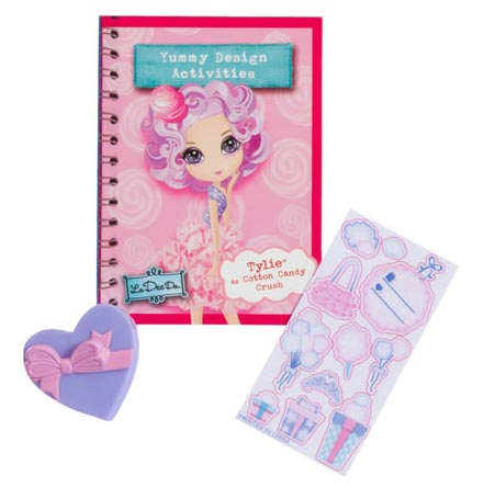 Accessorize your doll with the included stickers and props. View
