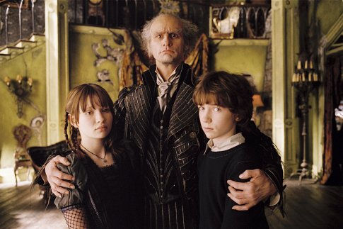 Violet, Count Olaf, and Klaus