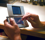 Nintendo DS used with a stylus