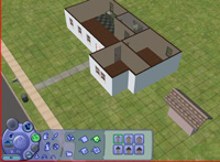 The Sims 2 house-building tools