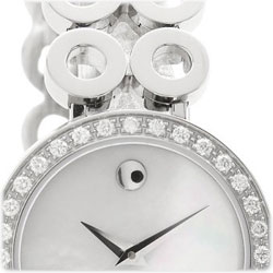 As Much A Fashion Accessory As It Is A Powerfully Precise Swiss Made  Timepiece, This Movado Ono Due Womenu0027s Timepiece Is Highlighted By A  Uniquely Artful ...