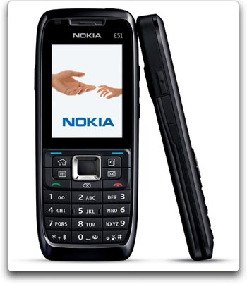 The slim Nokia E51 is loaded with features to help balance your