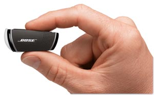 Bose Bluetooth headset in the hand