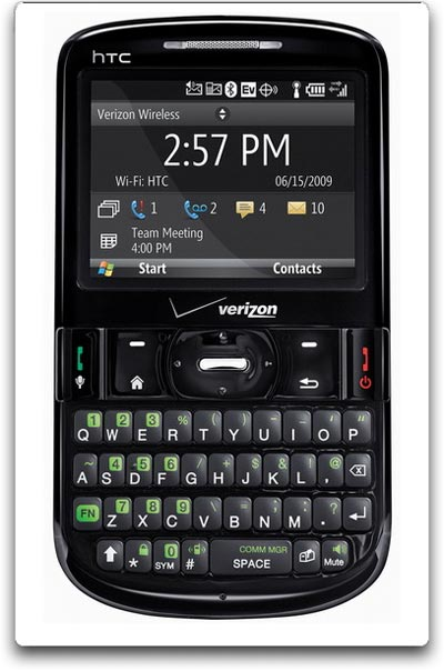 HTC Phone, 800/1900 MHz CDMA, EV-DO 3G, 850/900/1800/1900 MHz GSM/GPRS/EDGE, QWERTY