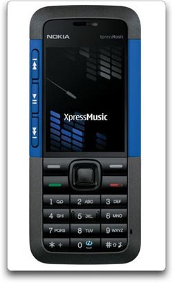 Nokia's 5310 XpressMusic phone offers dedicated playback keys and a