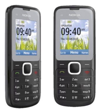 Nokia C1-01 in dark gray