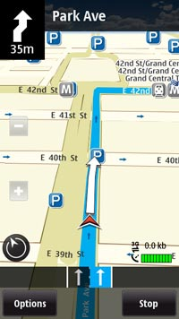 nokia ovimaps feature drivingdirections 200 Nokia E7 00 Unlocked GSM Phone with Touchscreen, QWERTY Keyboard, Easy E mail Setup, GPS Navigation, 8 MP Camera  U.S. Version with Warranty (Silver)