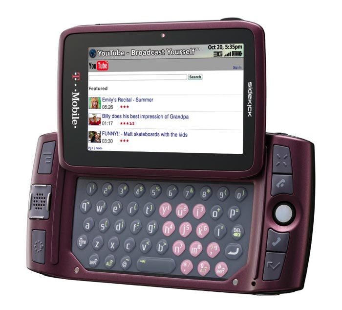 your phone blog t mobile sidekick lx 2009 orchid