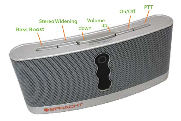 Spracht WS-4010 Aura BluNote Portable Wireless Speaker System with Bluetooth--Stream Music Wirelessly from Any Bluetooth Device.
