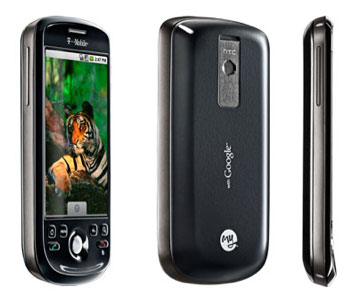 The T-Mobile myTouch 3G in black