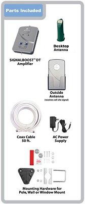 WILSON ELECTRONICS – DT – CELL PHONE SIGNAL BOOSTER FOR SMALL HOME OR OFFICE