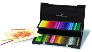 faber castell 110013 holzkoffer mit 120 polychromos. Black Bedroom Furniture Sets. Home Design Ideas
