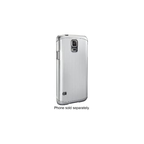 Dynex Case For Samsung Galaxy S 5 Cell Phones Brushed Silver Cover