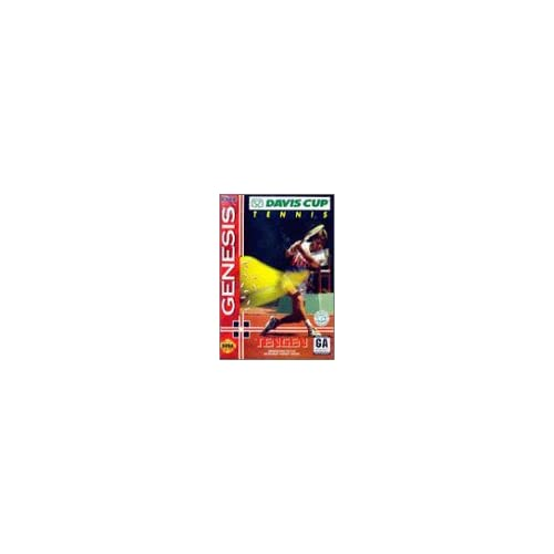 Davis Cup Tennis For Sega Genesis Vintage With Manual and Case