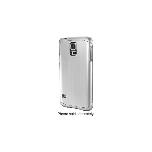 Image 2 of Dynex Case For Samsung Galaxy S 5 Cell Phones Brushed Silver Cover