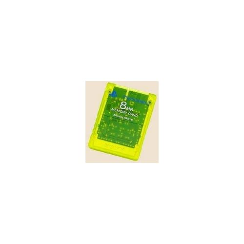 Image 0 of Sony PS2 8MB Memory Card Lemon Yellow For PlayStation 2 Expansion
