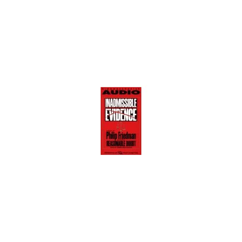 Image 0 of Inadmissable Evidence By Friedman Phillip Boutsikaris Dennis Reader On Audio Cas
