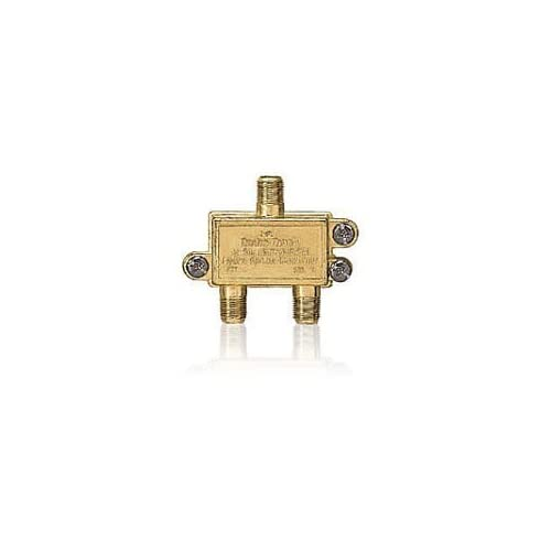 Radioshack 75-OHM 2-WAY Hybrid Splitter Gold TV