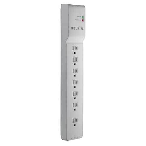 Belkin 7-OUTLET Home And Office Power Strip Surge Protector With 12-FOOT Power C